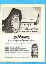 QUATTROR967-PUBBLICITA'/ADVERTISING-1967- ICE MASTER - CINGOLO ANTINEVE