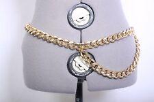 Faux gold metal chain belt