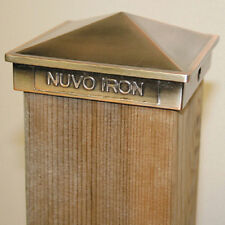 "Nuvo Iron PCP02CP 4""x4"" PYRAMID POST CAP COPPER PLATED fencing decorative fence"