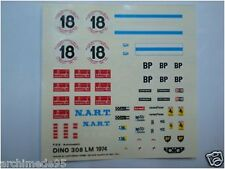 FERRARI DINO GT4 LE MANS 1974 DECALS 1/43