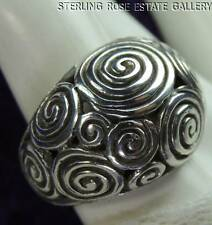 Swirling High Domed open work STERLING SILVER 0.925 Estate Cocktail RING size 7