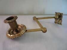 Antique Vintage Extending Swing Arm Brass Candlestick Holder Wall Sconce Piano