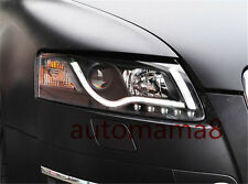 HID Headlights LED DRL Bi-xenon Projector Headlamps For 2006-2008 2007 Audi A6