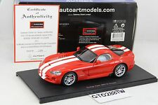 AUTOart 1:18 scale Dodge Viper SRT-10 Coupe 2006 Red/White Stripds(L.E.6000 pcs)