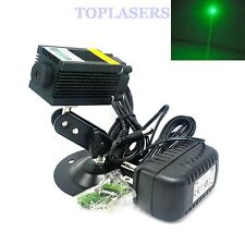 532nm 100mW Green laser diode Module W / 12V POWER & titolare non-focusable unità