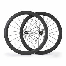 Novatec Hubs Road Bike Carbon Wheels 700C 50mm Clincher Cycling Bicycle Wheelset