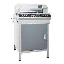 "New 18"" Electric Paper Guillotine Cutting Machine Stack Paper Cutter Heavy Duty"