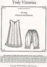Schnittmuster Truly Victorian TV 102: Chemise and Drawers