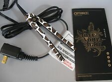 "Amika Giraffe Mini Travel Ceramic 1/2"" Flat Iron Hair Straightener"