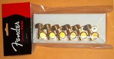 "Fender® American Deluxe Locking Gold Tuners (6)~""F"" Logo~0990818200~Brand New"