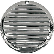 Joker Machine Chrome Finned Derby Cover for 1984-1998 Harley Big Twin