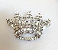 LOVELY TRIFARI FAUX DIAMOND CROWN PIN