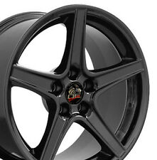 """18x9 Gloss Black Saleen Style Wheels Set of 4 18"""" Rims Fit Mustang® GT"""