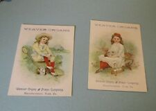 1898 Weaver Organ & Piano Victorian Trade Card Lot York PA Cat Bugs Pretty Girls
