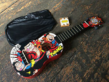 Left Handed Vintage Beano Official Soprano Dennis The Menace Ukulele Outfit