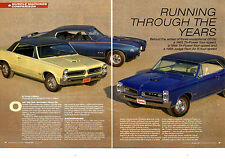1965 GTO TRI-POWER / 1966 GTO TRI-POWER / 1969 JUDGE RAM AIR III - ARTICLE / AD