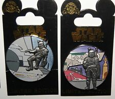 Disney STAR WARS Jango Fett / Boba Fett Pin # 6 & 7 of 13 LE 6000 NEW ON CARD