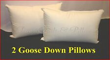 2 STANDARD PILLOWS - 95% GOOSE DOWN - 100% COTTON CASING - AUSTRALIAN MADE