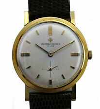 Vintage 50's 18k Yellow Gold Vacheron Constantin Finest Movement Dress Watch