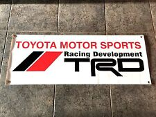 Toyota Motor Sports TRD Racing Development banner sign drifting off-road baja