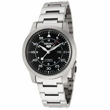 Seiko 5 SNK809 Men's Stainless Steel Military Black Dial Automatic Watch