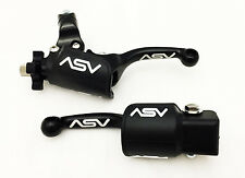 ASV UNBREAKABLE F3 SHORTY BLACK CLUTCH + BRAKE LEVERS DUST COVERS CR XRF XR