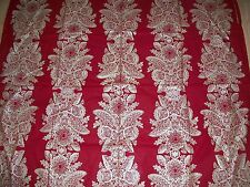 MARIMEKKO FABRIC 1 LARGE CUT DEEP RED & GOLD PAISLEY FLORAL PATTERN GORGEOUS