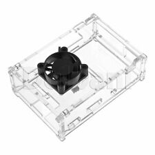 Brand New Transparent Plexi Case with cooling Fan For Raspberry Pi