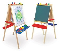Deluxe Standing Easel Kids Painting Coloring Lettering Dry Erase Chalkboard More