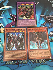 Destiny End Dragon + Destiny HERO Plasma + Dogma [DESO] Super Rare, Mint, YuGiOh