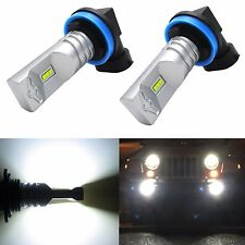 Alla Lighting 2x2400lm H16 Super Bright 6000K White CSP SMD LED Fog Lights bulbs