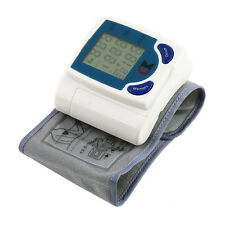 Digital LCD Wrist Blood Pressure Monitor With Heart Beat Rate Pulse Measure 7@