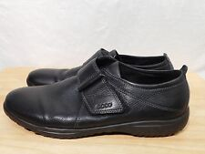 Ecco Flat Slip On 8M Eu 39 Black Leather Oxfords Loafers Shoes
