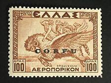 GReece ITALY IONIAN CORFU 1941 100 dr. Airpost SAS 12 $5000+  MNH