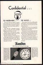 1929 HAMILTON Briarcliffe Ladies Wheatland Pocket Watch Antique Ad w/orig prices