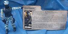 G.I. Joe ARAH Shockwave Action Figure With File Card 1988 Hasbro GI Tight Joints