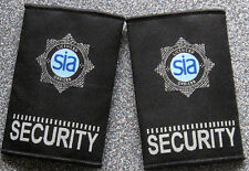 licensed security officers badged epaulettes for shirt, stab vest, coat, fleece.
