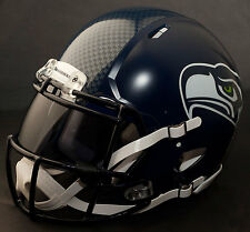 ***CUSTOM*** SEATTLE SEAHAWKS NFL Riddell Revolution SPEED Football Helmet