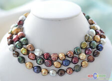"""P3843 50"""" 15mm baroque multicolor Freshwater cultured pearl necklace"""