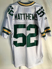 Reebok Authentic NFL Jersey Green Bay Packers Clay Matthews White sz 58