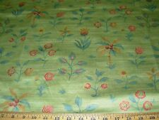 "~BTY~BRAEMORE~""FLOWERS""~COTTON SATEEN UPHOLSTERY FABRIC FOR LESS~ITALY~"