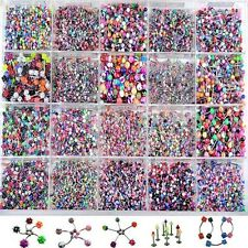 Wholesale 110x Bulk lots Body Jewellery Piercing Eyebrow Belly Tongue Bar Ring