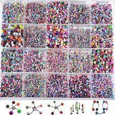 Wholesale 110x Bulk lots Body Jewellery Piercing Eyebrow Belly Tongue Bar Ring
