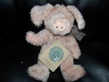 """Boyds Bears Plush LOFTON Q McSWINE Pig 8"""" posable jointed w/tags Retired Vintage"""