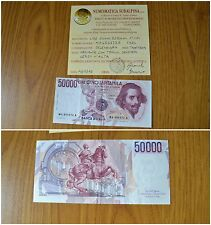 BANKNOTE 50000 BERNINI I TIPE 1984 VARIANT MOVED TOWARD THE HIGH EXTRA FINE+