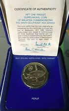 1977 SEA games  $1 PROOF coin !Original Pack/cert/BU ori golden tonning!
