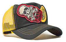 De van Dutch Mesh Trucker Cap [2 Patch Skull Black/Yellow] sombrero gorra basecap ba