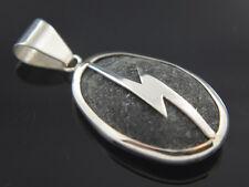 Piedra de Rayo en Silver .925 Piedra de los siete rayos Pendant SS925
