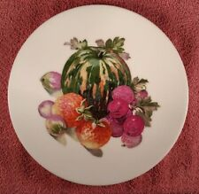 "Puls Germany Desert/ Cabinet plates 8"" with fruit - Melon"