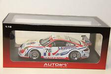 1/18 AUTOART PORSCHE 911 (997) GT3 RSR LEMANS GT2 CLASS WINNER 2007 , #76 , NEW